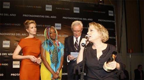 Luis del Olmo, Judit Masco, Lucrecia y Marina Rossell